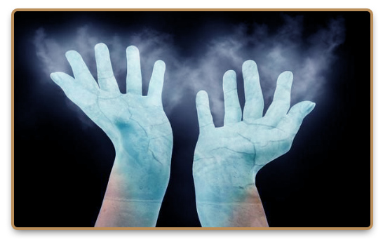 Frozen hands during Cyrokinesis exercise