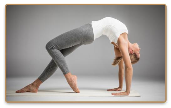 Woman during Ashtanga yoga practice