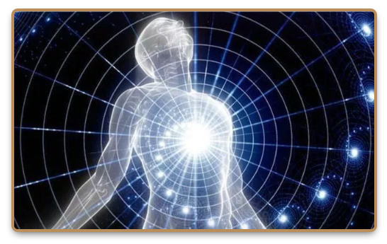 Etheric energy flows from the human body