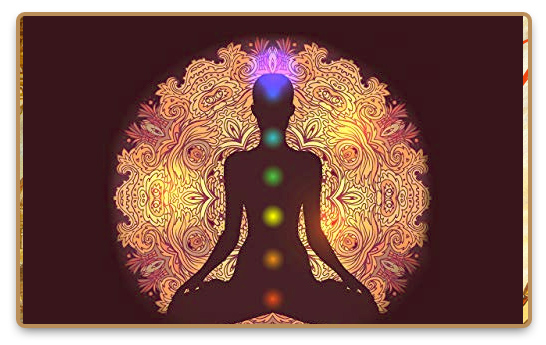 The seven main chakras in the human body illustration