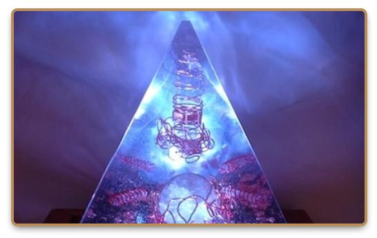 Blue orgone pyramid