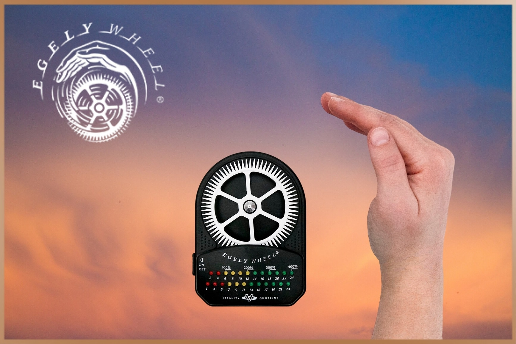 Egely Wheel Vitality Meter, a device for measuring energy level