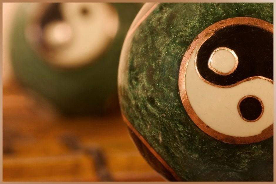 Yin Yang symbol for peaceful meditation