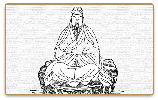 Drawn image of Taoist meditation