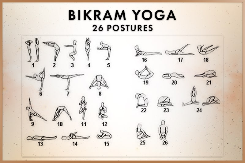 26 positions of Bikram Yoga, the most beneficial postures according to Choudhury Bikram