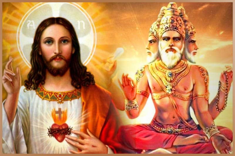 Combination of Christian and Hindu ideas