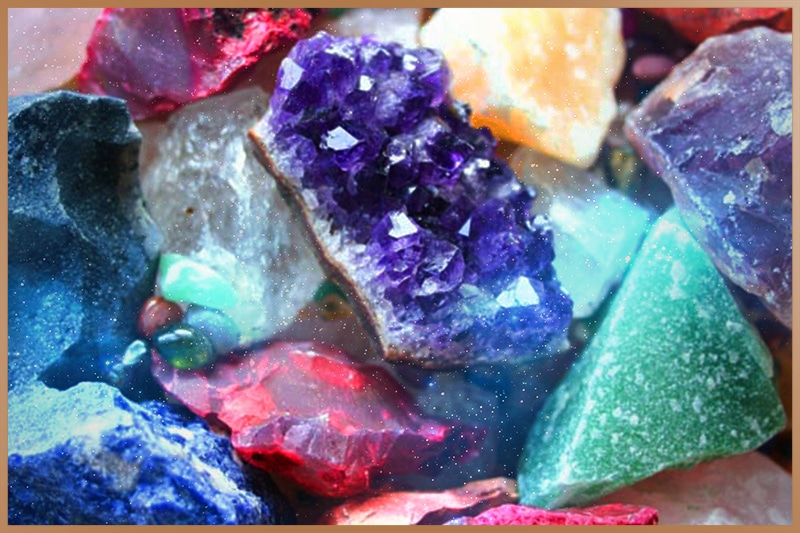 Chakra colored crystals for crystal healing