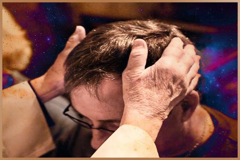 Laying of hands spiritual healing