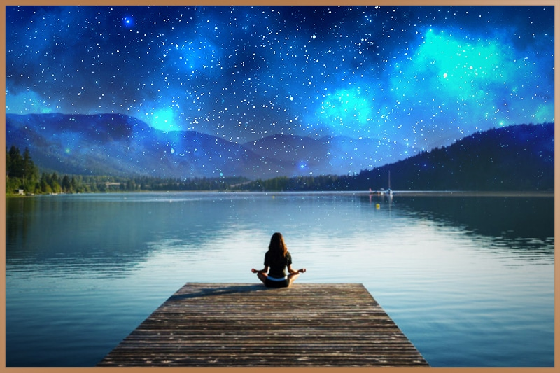 Women found inner peace during meditation in nature