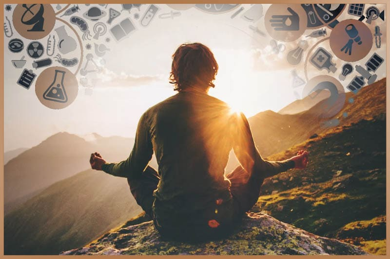 Separate your thoughts from yourself during meditation
