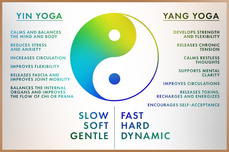 Differences between Yin and Yang yoga types