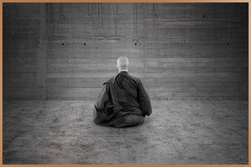 Meditation practice while facing a wall