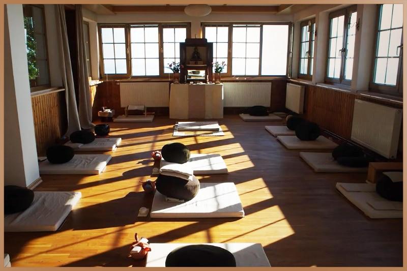Zazen meditation is practiced in a meditation hall called Zendo