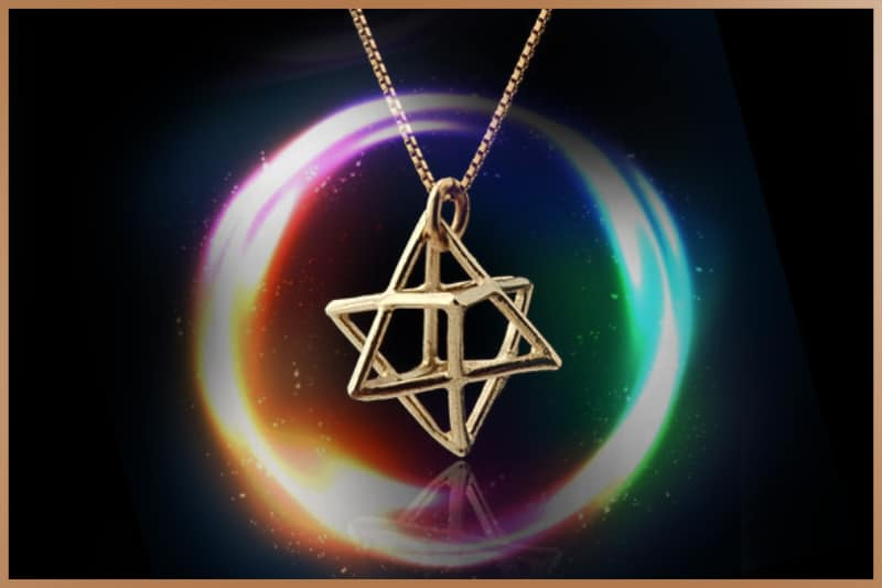 Merkabah symbol used as a talisman