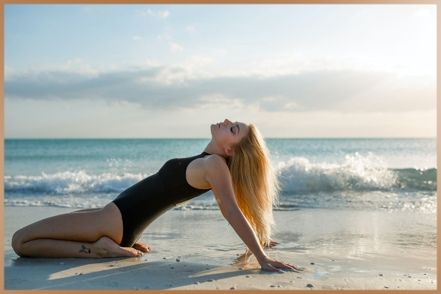 Woman after meditation feeling relaxed and mindful